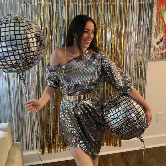 House of Harlow disco mini dress